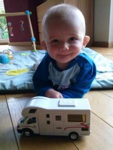 Fabi mit seinem Wohnmobil